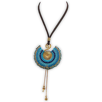 Uhren & Schmuck Damen Collier Blue Pearls NUB 3217 E Multicolor