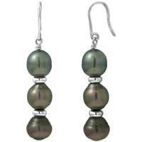 Uhren & Schmuck Damen Ohrringe Blue Pearls BPS K380 W Grün