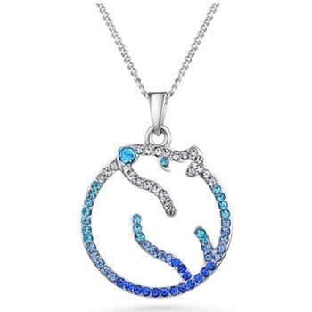 Uhren Damen Anhänger Blue Pearls Eisbären-Anhänger mit blauen Kristall Swarovski Elements Multicolor