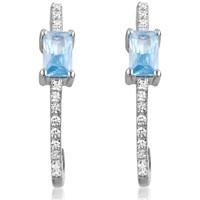 Uhren Damen Ohrringe Blue Pearls Ohrringe-Silber Swarovski Elements und 28 weißen Zirkonia und Bl Multicolor