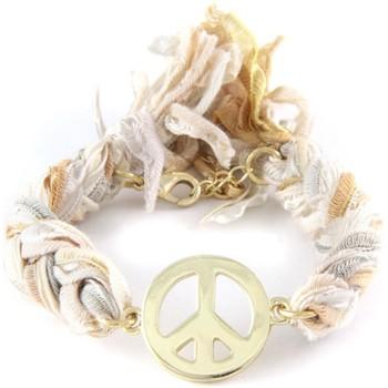 Uhren Damen Armbänder Blue Pearls Ettika - Geflochtenes, mehrfarbigens Baumwollbänder-Armband mit Multicolor