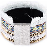 Uhren & Schmuck Damen Armbänder Blue Pearls CRY G187 F Grau