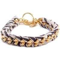 Uhren Damen Armbänder Blue Pearls Ettika - Geflochtenes, zebrafarbenes Baumwollbänder-Armband in G Other