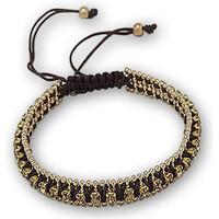 Uhren Damen Armbänder Blue Pearls Armband mit braunen Kristallen und vergoldeter Edelstahlfassung Multicolor