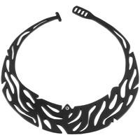 Uhren Damen Collier Blue Pearls Jungle Halskette Schwarz Silikon Gum Effekt Tattoo Other