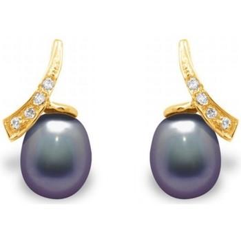 Uhren & Schmuck Damen Ohrringe Blue Pearls BPS K362 W Multicolor