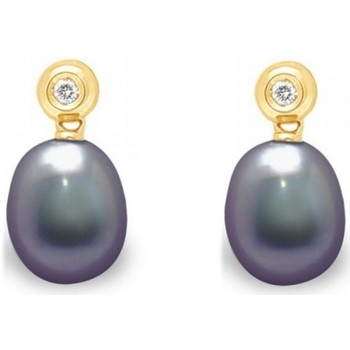 Uhren & Schmuck Damen Ohrringe Blue Pearls BPS K364 W Multicolor