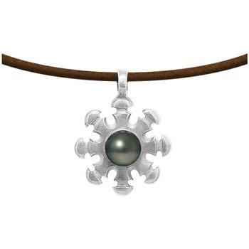 Uhren & Schmuck Damen Collier Blue Pearls BPS K295 W Grün