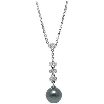 Uhren & Schmuck Damen Collier Blue Pearls BPS K013 W Weiss