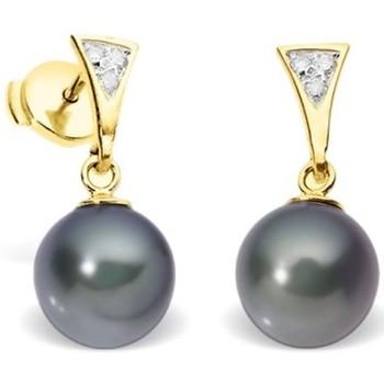 Uhren & Schmuck Damen Ohrringe Blue Pearls BPS K354 W Multicolor