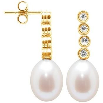 Uhren & Schmuck Damen Ohrringe Blue Pearls BPS K359 W Multicolor