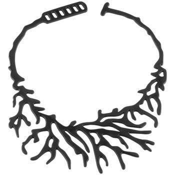 Uhren Damen Collier Blue Pearls Koralle Halskette Schwarz Silikon Gum Effekt Tattoo Other