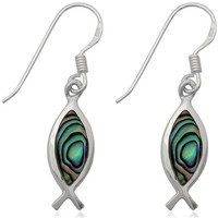 Uhren Damen Ohrringe Blue Pearls Ohrringe Fische 925-Sterlingsilber und Seeohr Other