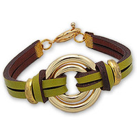 Uhren & Schmuck Damen Armbänder Blue Pearls NUB 3107 E Grün