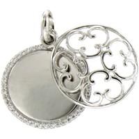 Uhren Damen Anhänger Blue Pearls Anhänger Kreis und Silber 925 und Swarovski Elements Kristallwei Multicolor