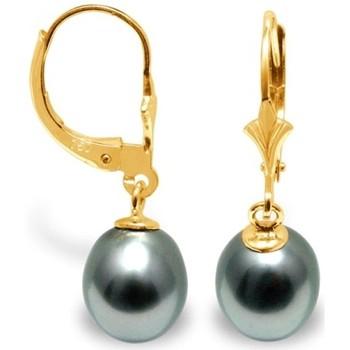 Uhren & Schmuck Damen Ohrringe Blue Pearls BPS K335 W Gold