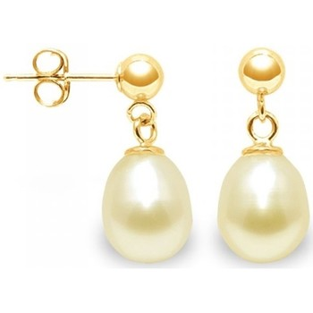 Uhren & Schmuck Damen Ohrringe Blue Pearls BPS K338 W GOLD Multicolor