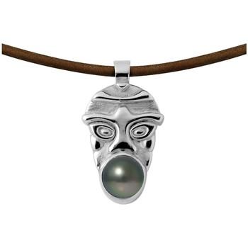 Uhren & Schmuck Damen Collier Blue Pearls BPS K707 W Grün