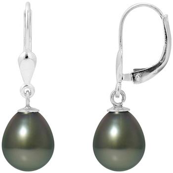 Uhren Damen Ohrringe Blue Pearls Ohrringe Schwarze Tahitiperle und Silber 925/1000 Multicolor