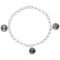 Uhren Damen Armbänder Blue Pearls 3 Tahiti-Perlen-Armband 925-Sterlingsilber Multicolor