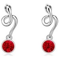 Uhren Damen Ohrringe Blue Pearls Schlange-Ohrringe Kristall Swarovski Element Rot Gold überzogen Multicolor