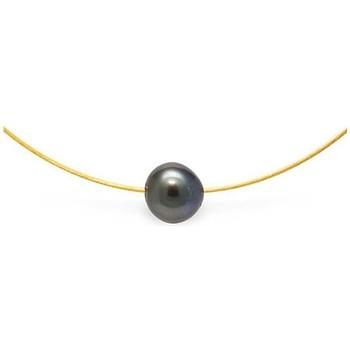 Uhren & Schmuck Damen Collier Blue Pearls BPS K004 W Weiss