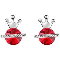 Uhren Damen Ohrringe Blue Pearls Ohrringe Princess Kristall Swarovski Element Rot und Gold überzo Multicolor