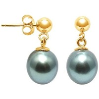 Uhren & Schmuck Damen Ohrringe Blue Pearls BPS K311 W Gold