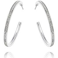Uhren & Schmuck Damen Ohrringe Blue Pearls CRY B341 W Weiss