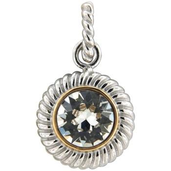 Uhren Damen Anhänger Blue Pearls Weissen Kristall Swarovski Elements Kreis Anhanger und 925 Sterl Multicolor