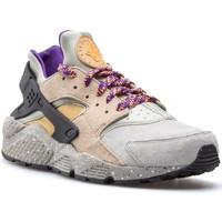 Schuhe Herren Sneaker Low Nike Air Huarache Run Prm Grau