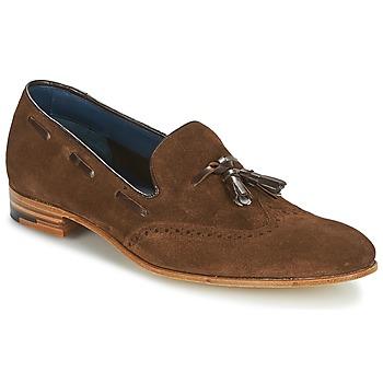 Schuhe Herren Slipper Barker RAY Braun