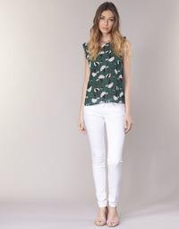 Kleidung Damen 5-Pocket-Hosen Le Temps des Cerises 316 Weiss