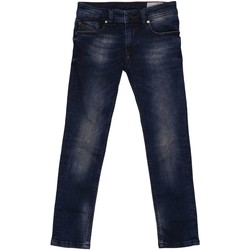 Kleidung Kinder Straight Leg Jeans Diesel SLEENKER-J-EL 00J3HN JEANS junge DENIM DARK BLUE DENIM DARK BLUE