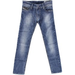 Kleidung Kinder Straight Leg Jeans Diesel 00J2EG KXAWI SLEENKER J JEANS junge DENIM MEDIUM BLUE DENIM MEDIUM BLUE