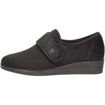 Schuhe Damen Slipper Valleverde 23205 Pantoffel Frau Schwarz Schwarz