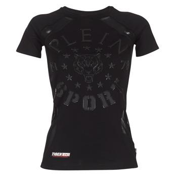 Kleidung Damen T-Shirts Philipp Plein Sport FORMA LINEA Schwarz