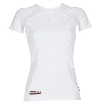 Kleidung Damen T-Shirts Philipp Plein Sport FORMA LINEA Weiss / Weiss