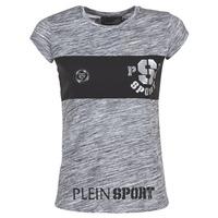 Kleidung Damen T-Shirts Philipp Plein Sport THINK WHAT U WANT Grau