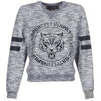 Kleidung Damen Sweatshirts Philipp Plein Sport LET YOUR MIND FREE Grau
