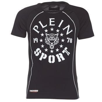 Kleidung Herren T-Shirts Philipp Plein Sport LIONEL Schwarz / Weiss