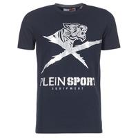 Kleidung Herren T-Shirts Philipp Plein Sport BORIS Marine / Silbern
