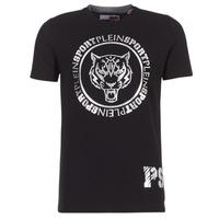 Kleidung Herren T-Shirts Philipp Plein Sport IVAN Schwarz / Silbern
