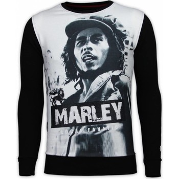 Kleidung Herren Sweatshirts Local Fanatic Bob Marley Digital Strass Schwarz
