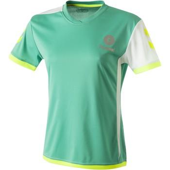 Kleidung Damen T-Shirts Hummel Maillot Femme  Trophy vert/blanc