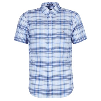 Kleidung Herren Kurzärmelige Hemden Gant BLUE PACK MADRAS REG Blau