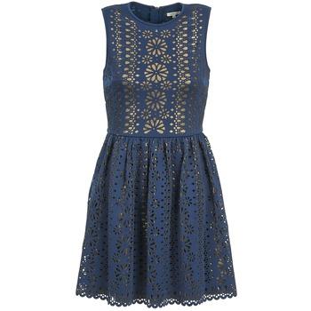 Kleidung Damen Kurze Kleider Manoush NEOPRENE Blau / Goldfarben