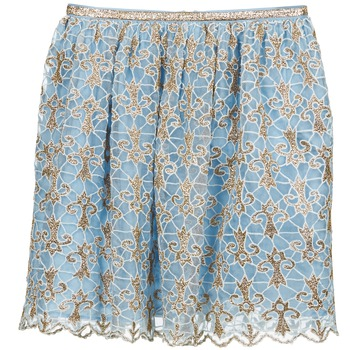 Kleidung Damen Röcke Manoush ARABESQUE Blau / Goldfarben