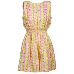 Kleidung Damen Kurze Kleider Manoush FLAMINGO Rose / Gelb