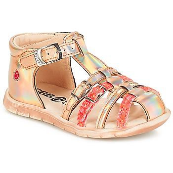 Schuhe Mädchen Sandalen / Sandaletten GBB PERLE Tts / Rose / Metal-fluo / Dpf / Nemo